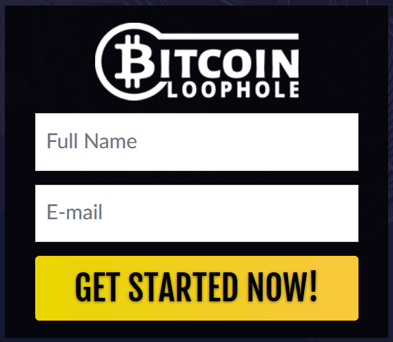 Account register form of Bitcoin Loophole