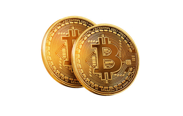 Golden Coin BTC transparent background