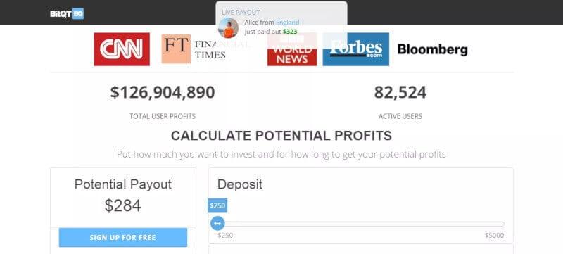 BitQT payment methods deposit